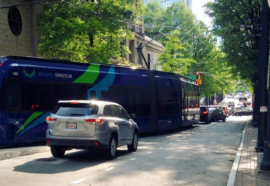 stuck streetcar